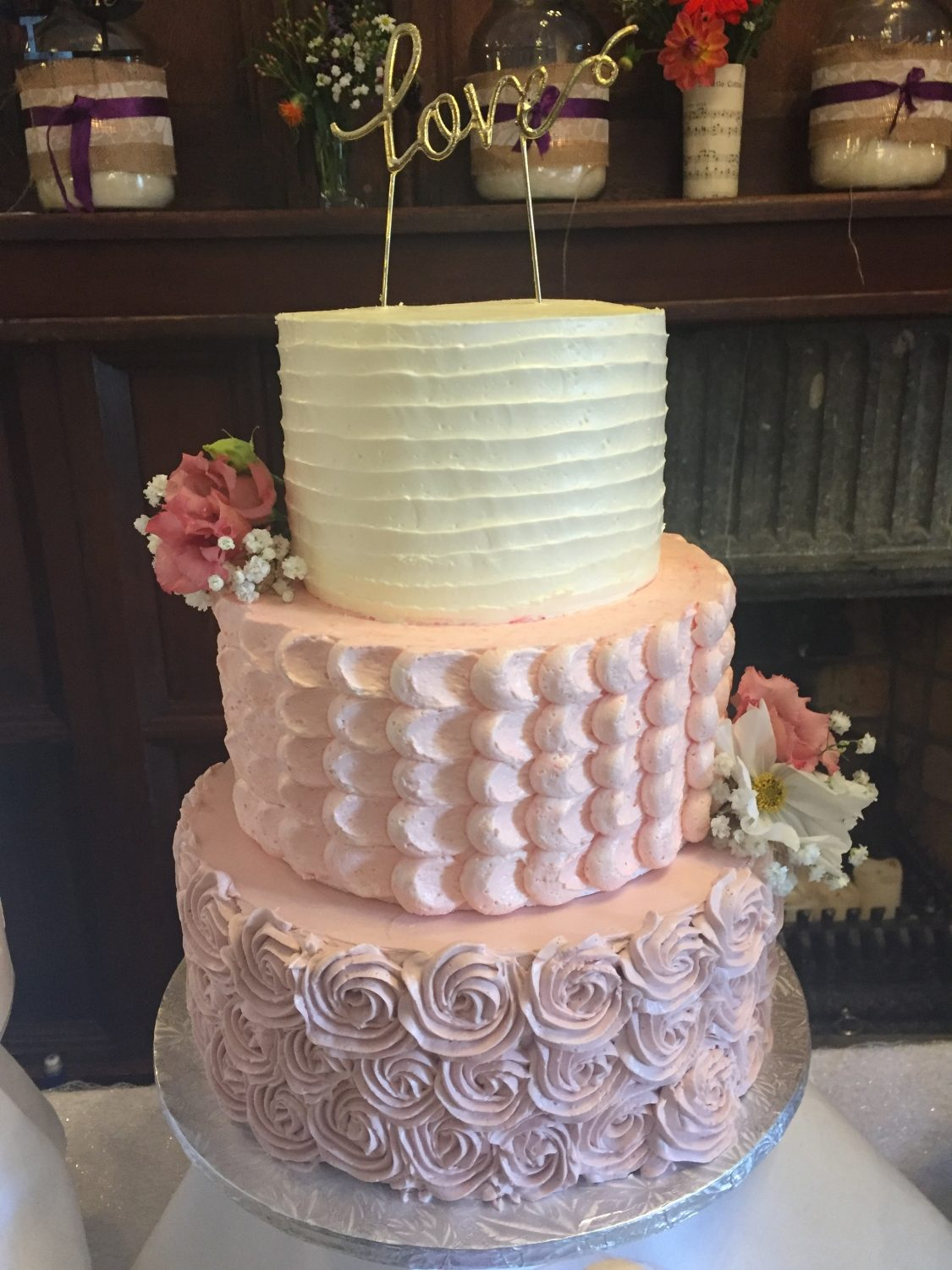 Pretty in pink buttercream
