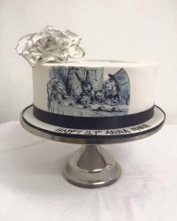 Alice in wonder tea party cake
