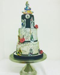 Alice in wonderland dark cake.