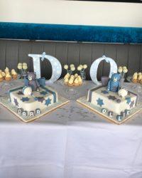 twin bear dessert table