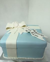 Tiffany Box engagement cake.