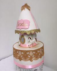 carasoul christening cake