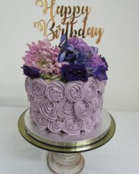 Happy Birthday Lilac Rosettes