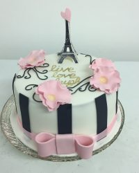 live, love, laugh Paris cake